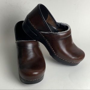 Dansko Professional Brown Leather Clogs